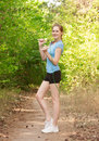 Fitness woman with skipping rope Royalty Free Stock Photo