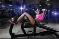 The Fitness Woman In Sport Wea...
