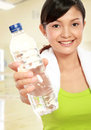 Fitness woman with water Royalty Free Stock Photo