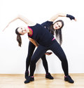 Fitness women stretching Royalty Free Stock Photo