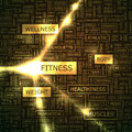 Fitness word cloud illustration tag cloud concept collage Royalty Free Stock Image