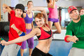 Fitness - Zumba dance training in gym Royalty Free Stock Images