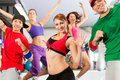 Fitness - Zumba dance workout in gym Royalty Free Stock Photo