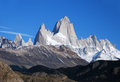 Fitz roy in patagonia el chalten argentina Stock Photography