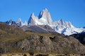 Fitz roy in patagonia el chalten argentina Stock Photos