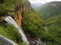 Fitzroy Falls Balcony View Royalty Free Stock Photo
