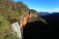 Fitzroy Falls cliff landscape Royalty Free Stock Photo