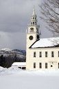 Fitzwilliam town hall in winter the new hampshire Stock Photography
