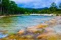 Fiume di frio vicino al fiume ad ovest di concan texas cold springs Fotografia Stock Libera da Diritti