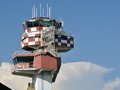 Fiumicino air traffic control tower Stock Photo