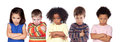 Five angry children Royalty Free Stock Photo