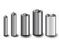 Five batteries Royalty Free Stock Photo