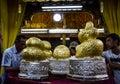 Five buddha images