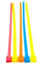 Five cable ties Royalty Free Stock Photo