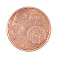 Five cents coin Royalty Free Stock Photo