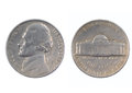 Five cents USA 1962 Royalty Free Stock Photo
