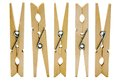 Five clothespins Stock Photography