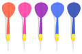 Five colorful darts illustration of the on a white background Royalty Free Stock Photography