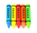 Five Colorful Erasers Royalty Free Stock Photo