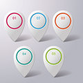 Five colorful infographic markers on the grey background eps file Royalty Free Stock Photo
