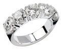 Five diamond silver ring Royalty Free Stock Photo