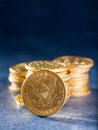 Five dollars gold coins usd Stock Images
