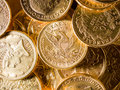 Five dollars gold coins usd Royalty Free Stock Photography