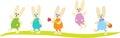 Five Easter Bunnies
