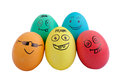 Five easter eggs Royalty Free Stock Photo