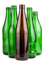 Five empty bottles Royalty Free Stock Photo