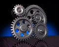 Five Gears on Black Royalty Free Stock Photos