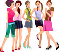 Five girls Royalty Free Stock Photos
