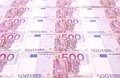 Five hundred euro notes close up whole background Royalty Free Stock Photo