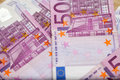 Five hundred euro notes on the ground Royalty Free Stock Photos