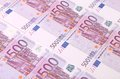 Five hundreds euro banknotes background whole Stock Image