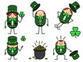 Five leprechauns Royalty Free Stock Image