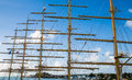 Five Masts Against Blue Sky Royalty Free Stock Photo
