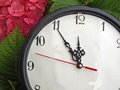 Five minutes until clock show time something Royalty Free Stock Photography