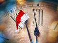 Five minutes before midnight christmas eve holiday concept Stock Image