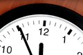 Five minutes to twelve a business clock shows Royalty Free Stock Images