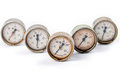 Five of the old gauges Royalty Free Stock Photo