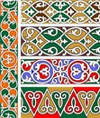 Five ornamental borders Royalty Free Stock Images