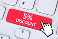 5% five percent discount button coupon voucher sale online shopp Royalty Free Stock Photo