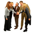 Five Person Business Team Royalty Free Stock Image