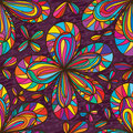 Five petal color flower seamless pattern Royalty Free Stock Photo
