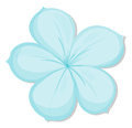 A five petal flower illustration of on white background Stock Photos