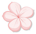 A five petal pink flower illustration of on white background Royalty Free Stock Images