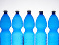 Five plastic bottles Royalty Free Stock Photo