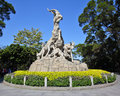 The five ram sculpture symbol of guangzhou goat which built at it is one most famous structures in guangdong Royalty Free Stock Photo