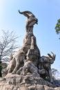 Five Rams Statue in Yuexiu Park the symbol of Guangzhou, China